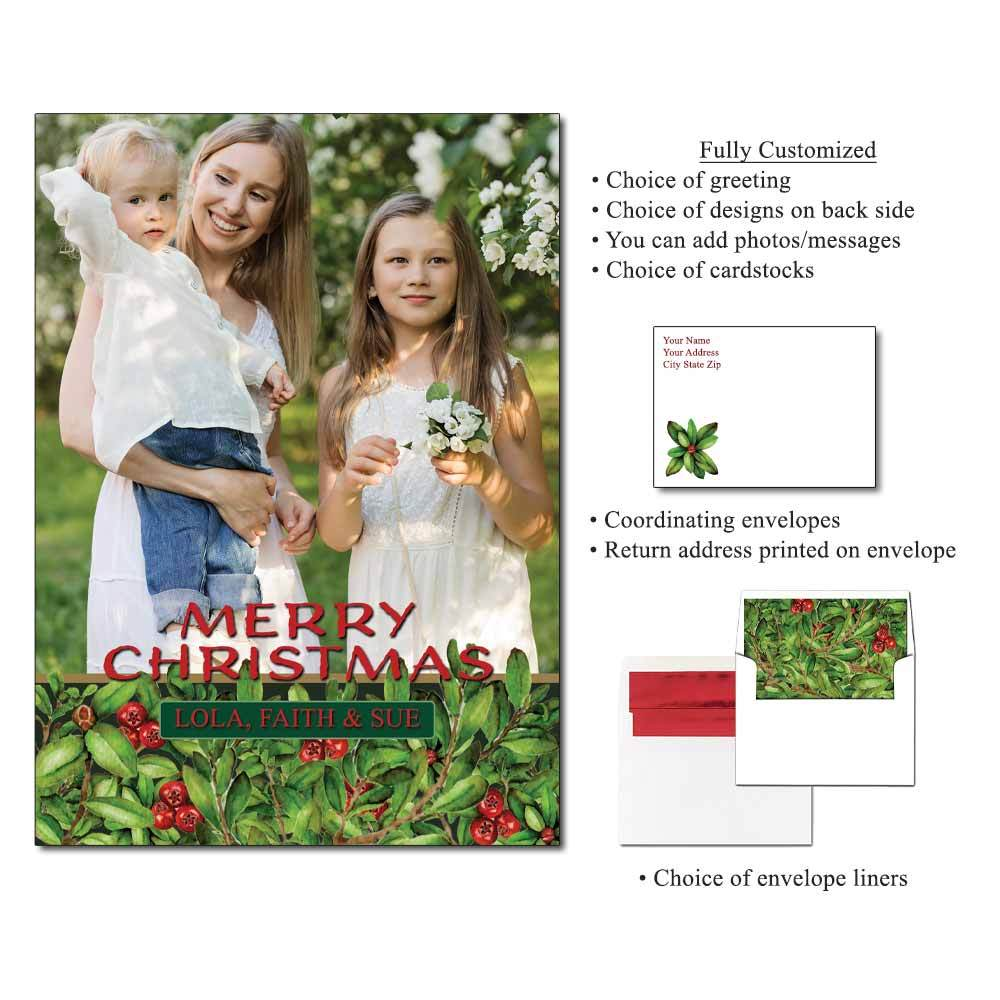 Cranberries Personalized Photo Flat Cards