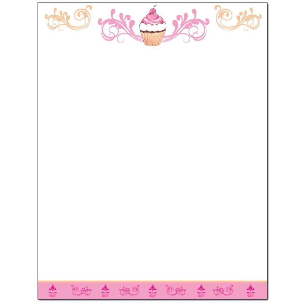 Cupcake Letterhead