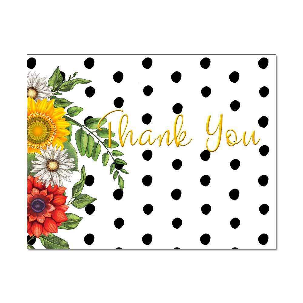 Daisy Dots Thank You Card