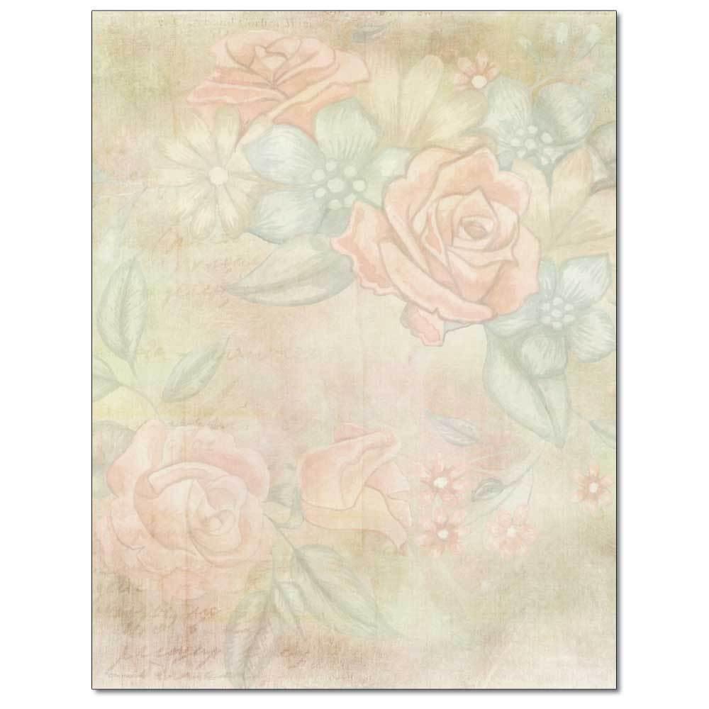 Delicate Roses Letterhead