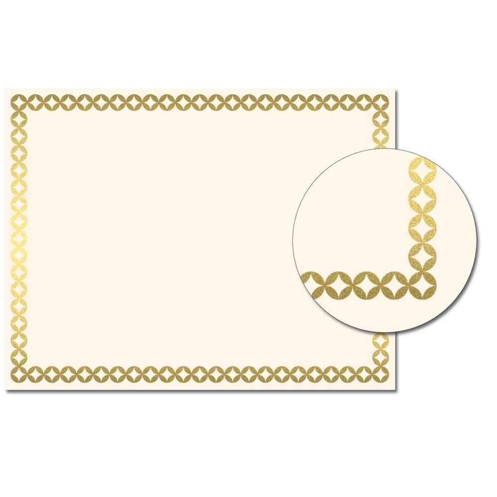 Diamonds Foil Certificate