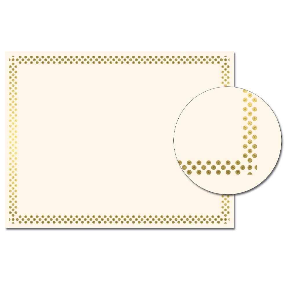Dots Foil Cetrificate
