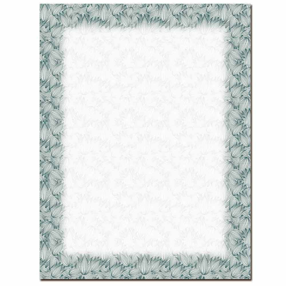 Etched Tulips Letterhead
