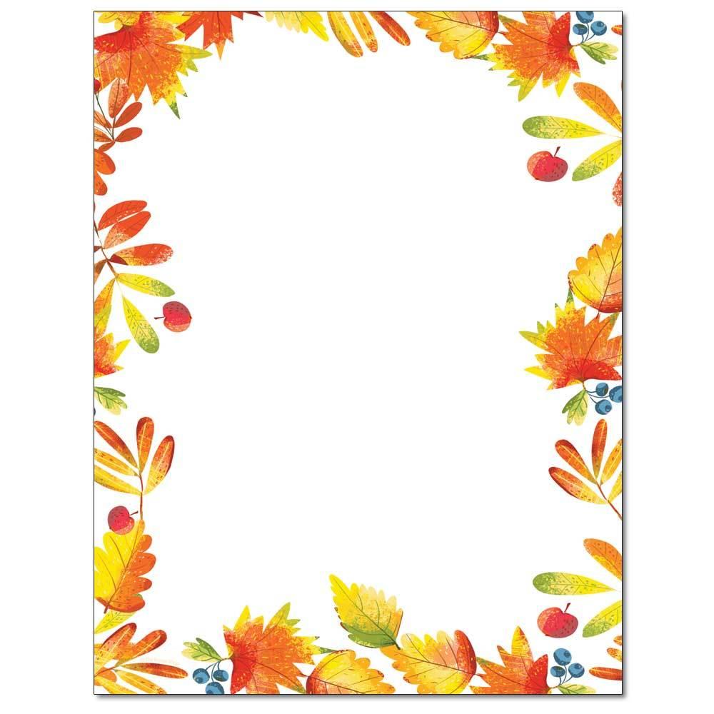 Autumn Foliage Letterhead