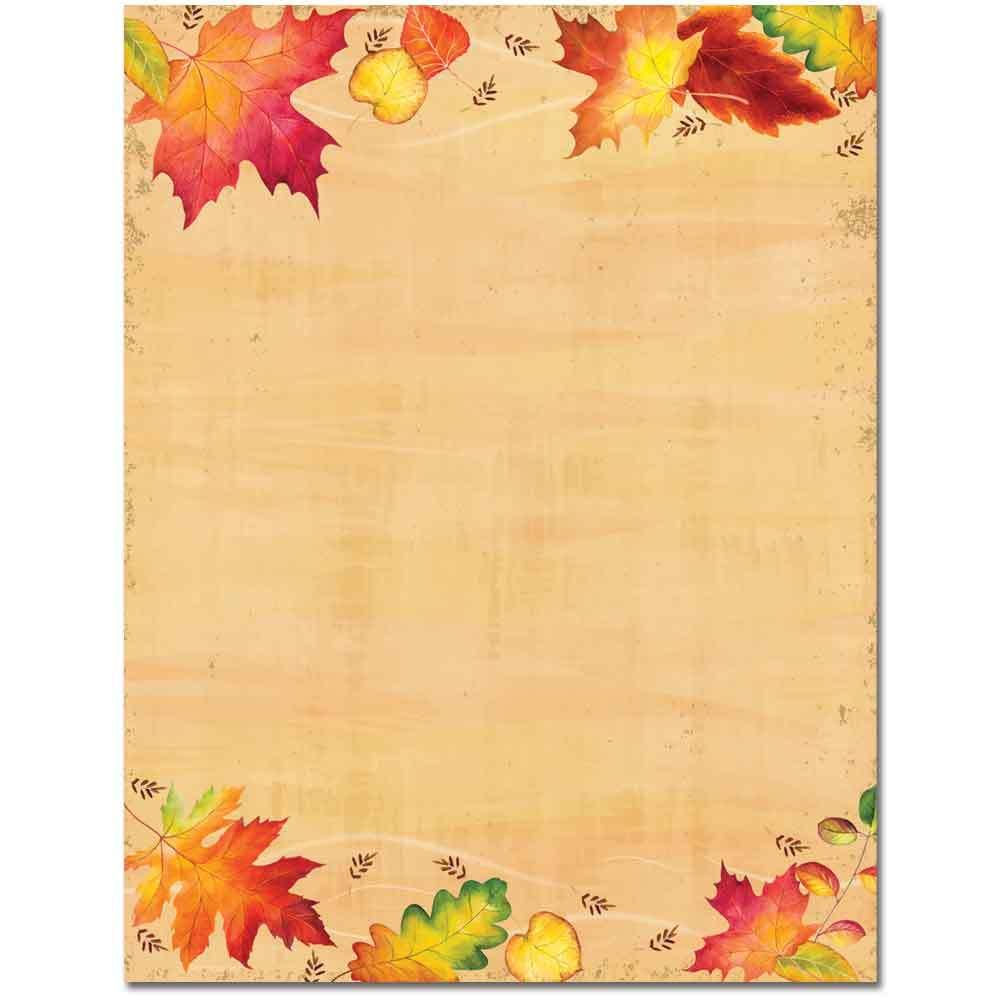 Falling Leaves Letterhead
