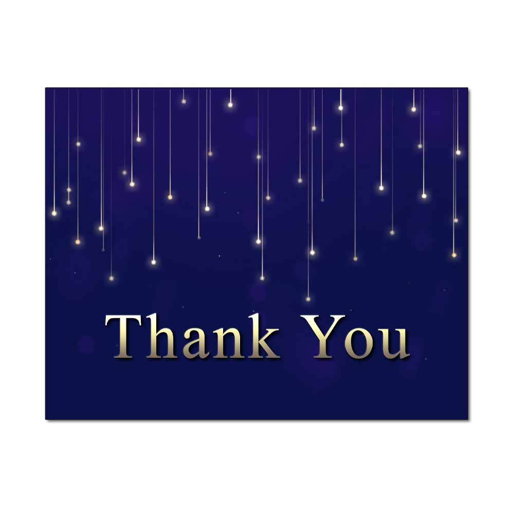 Falling Stars Thank You Card