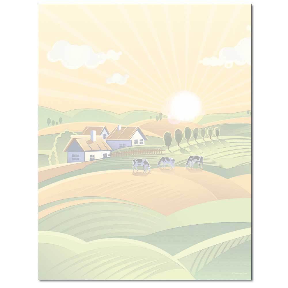 Farm Field Letterhead