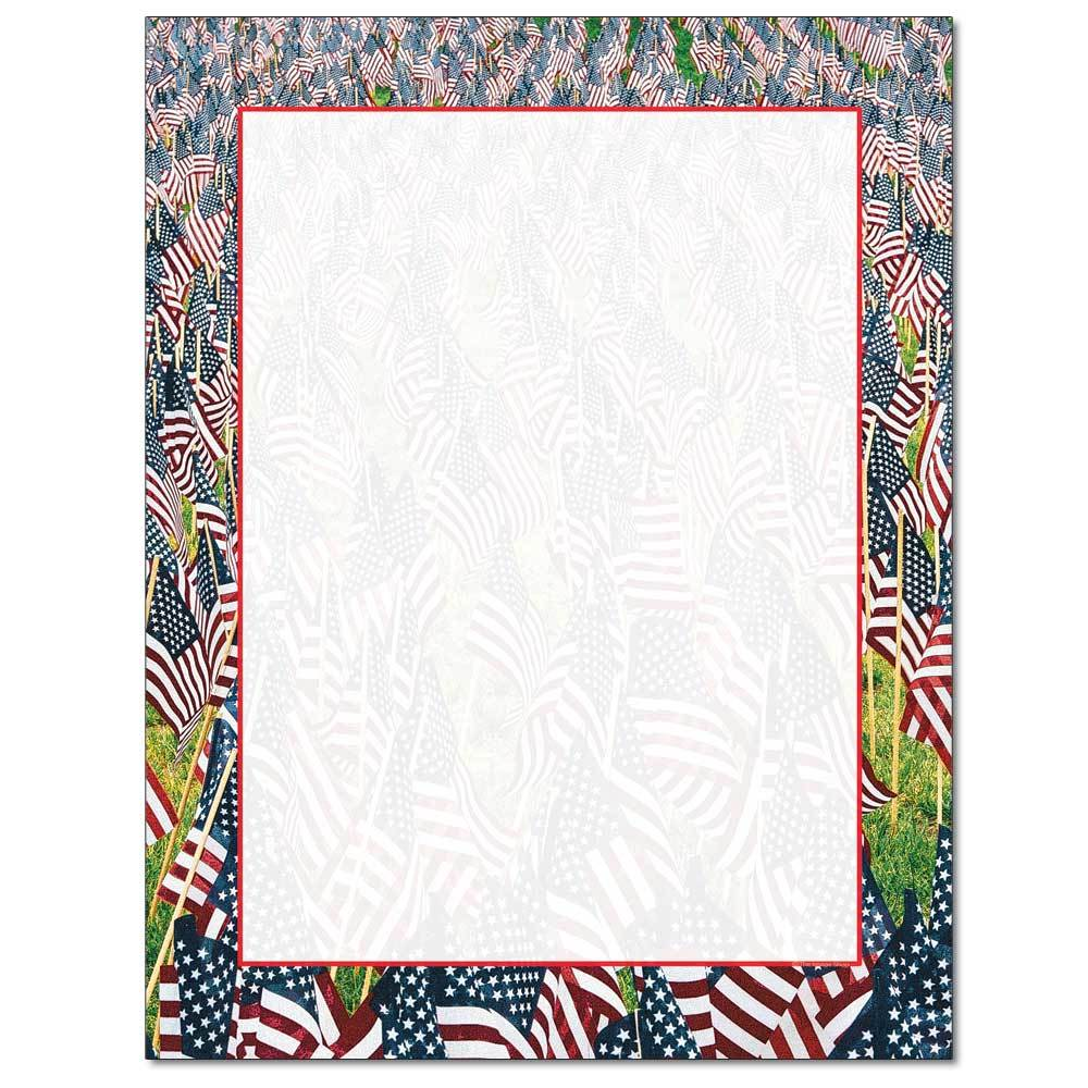 Field of Flags Letterhead