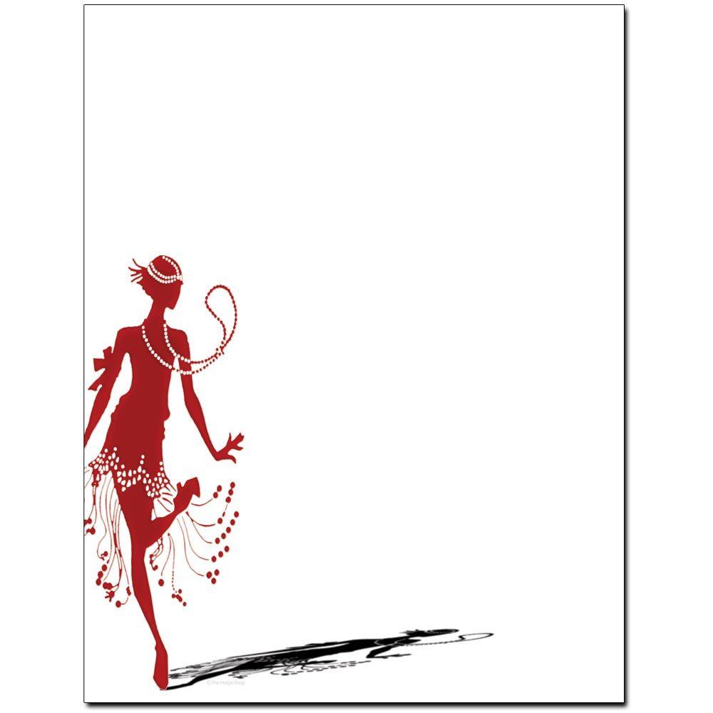 Flapper Dancer Letterhead
