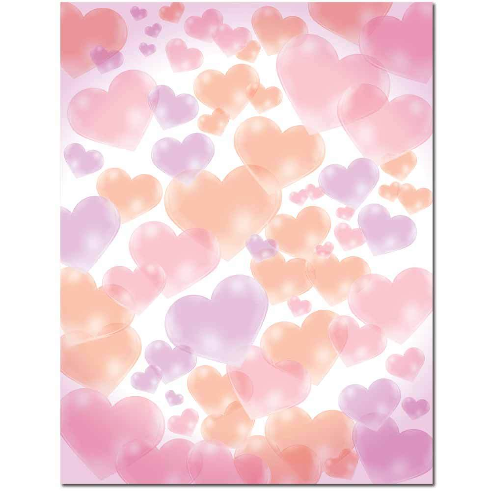 Floating Hearts Letterhead