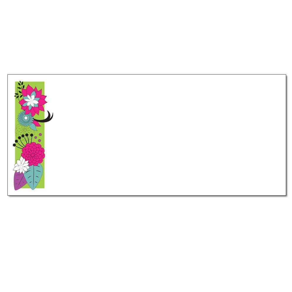 Floral On Green Envelopes