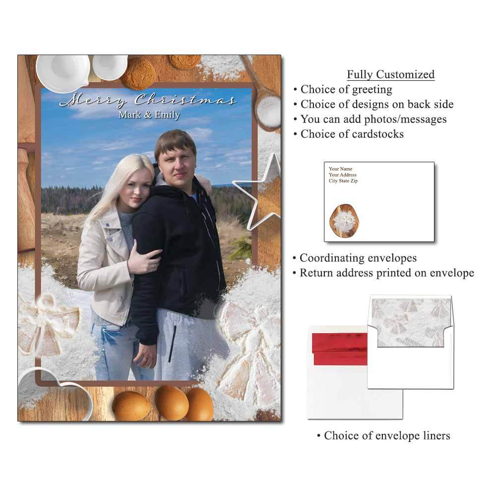 Flour Angels Personalized Photo Flat Cards
