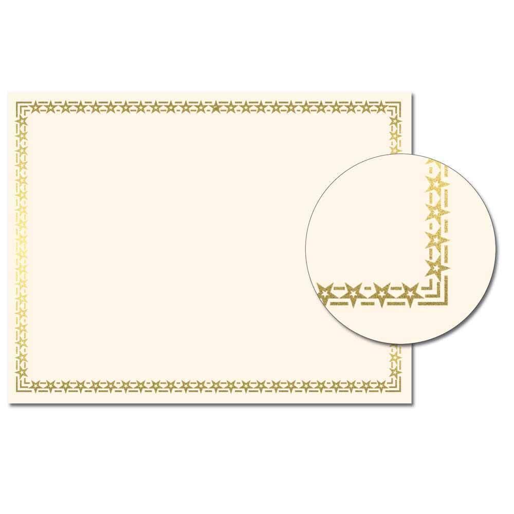 Foil Stars Certificate