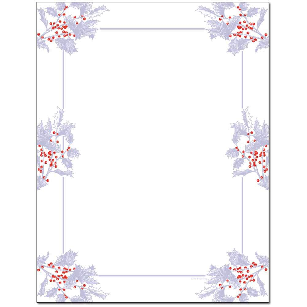 Frosted Holly Berries Letterhead