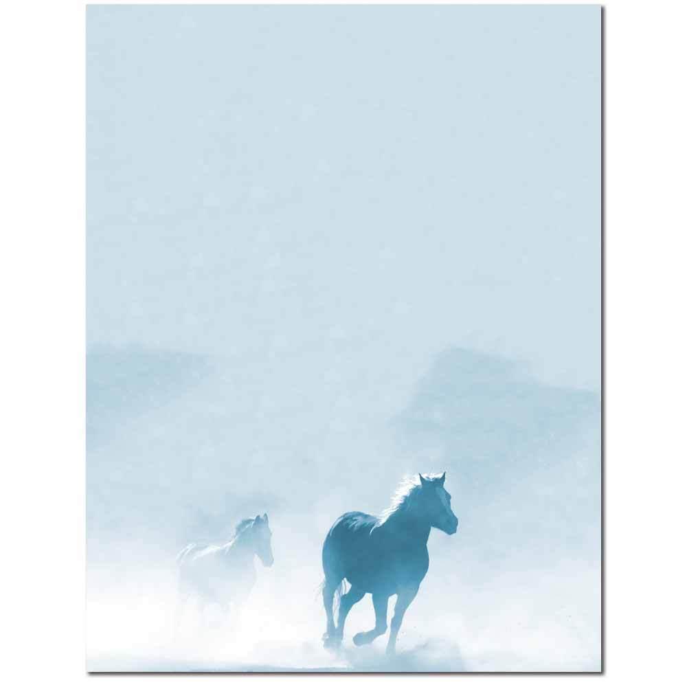 Galloping Horses Letterhead