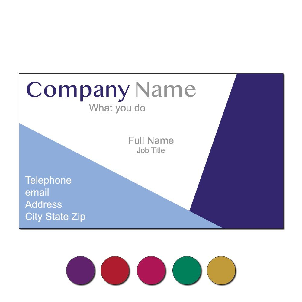 Geo Colors Custom Business Cards