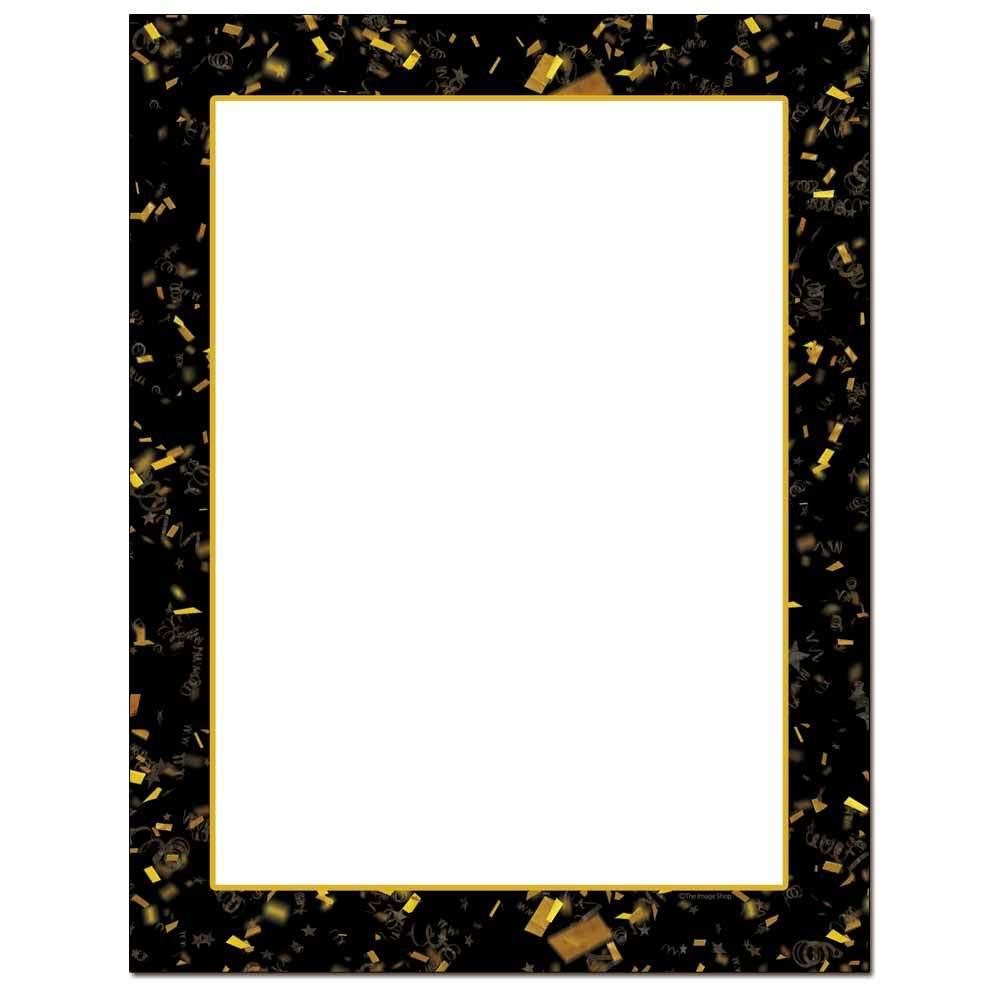 Gold Confetti Letterhead