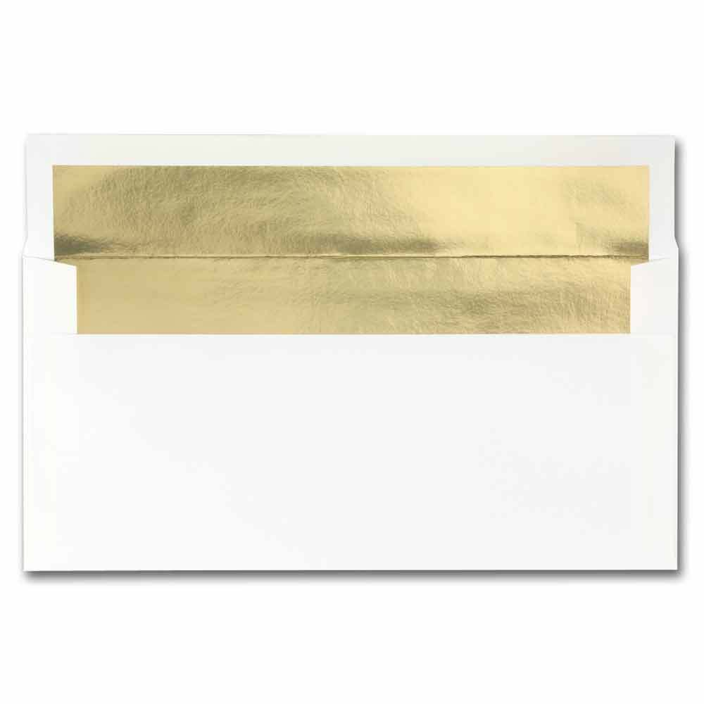 White Gold Foil Envelopes