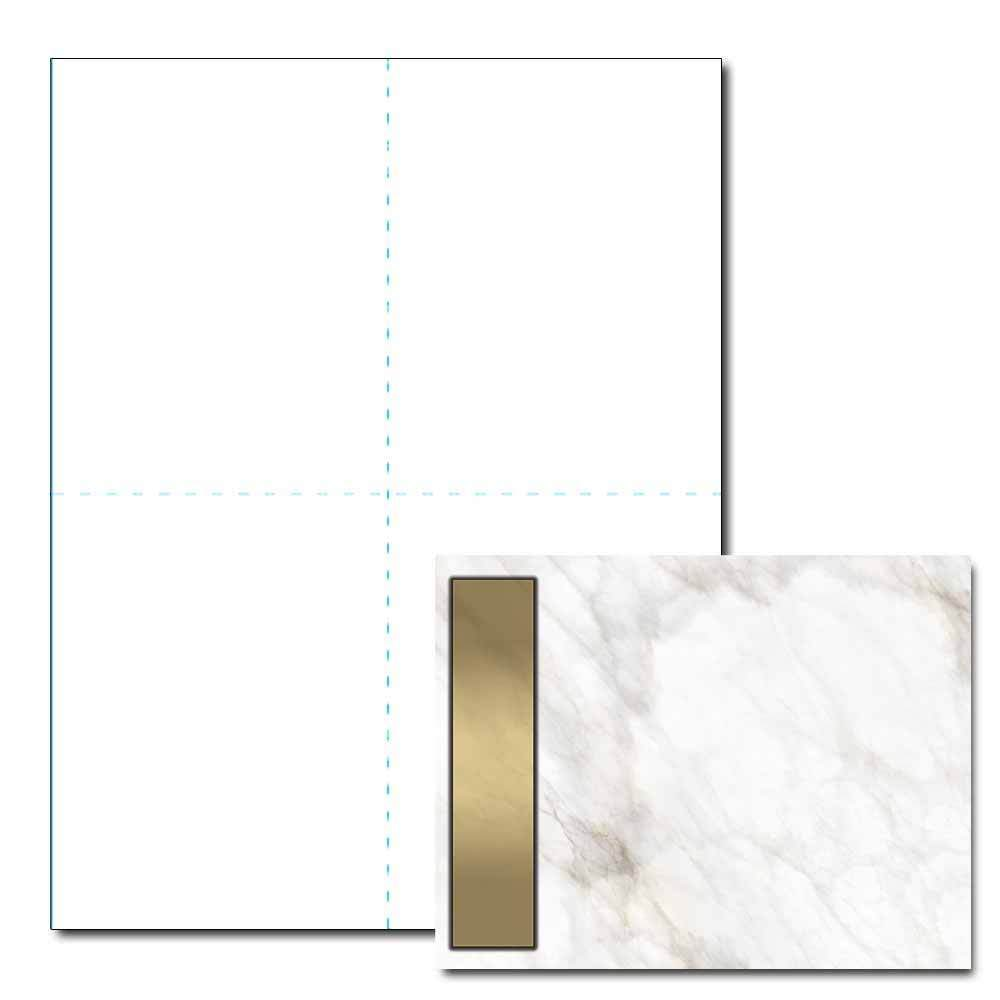 Gold Marble Post Card