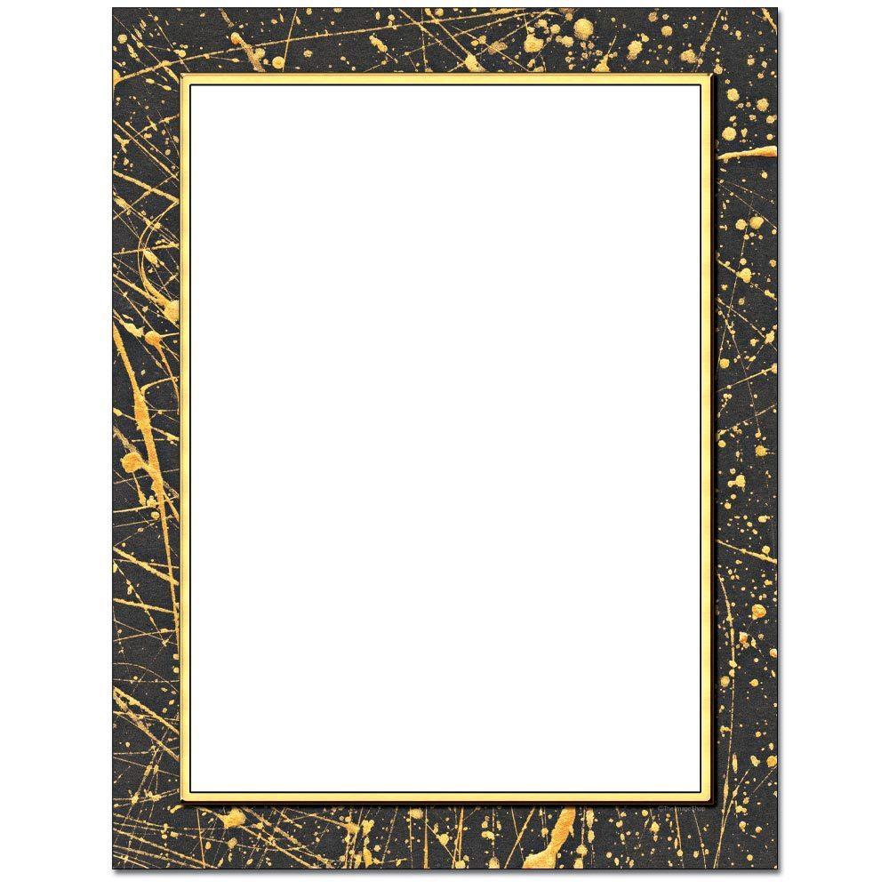 Gold Splatter Letterhead