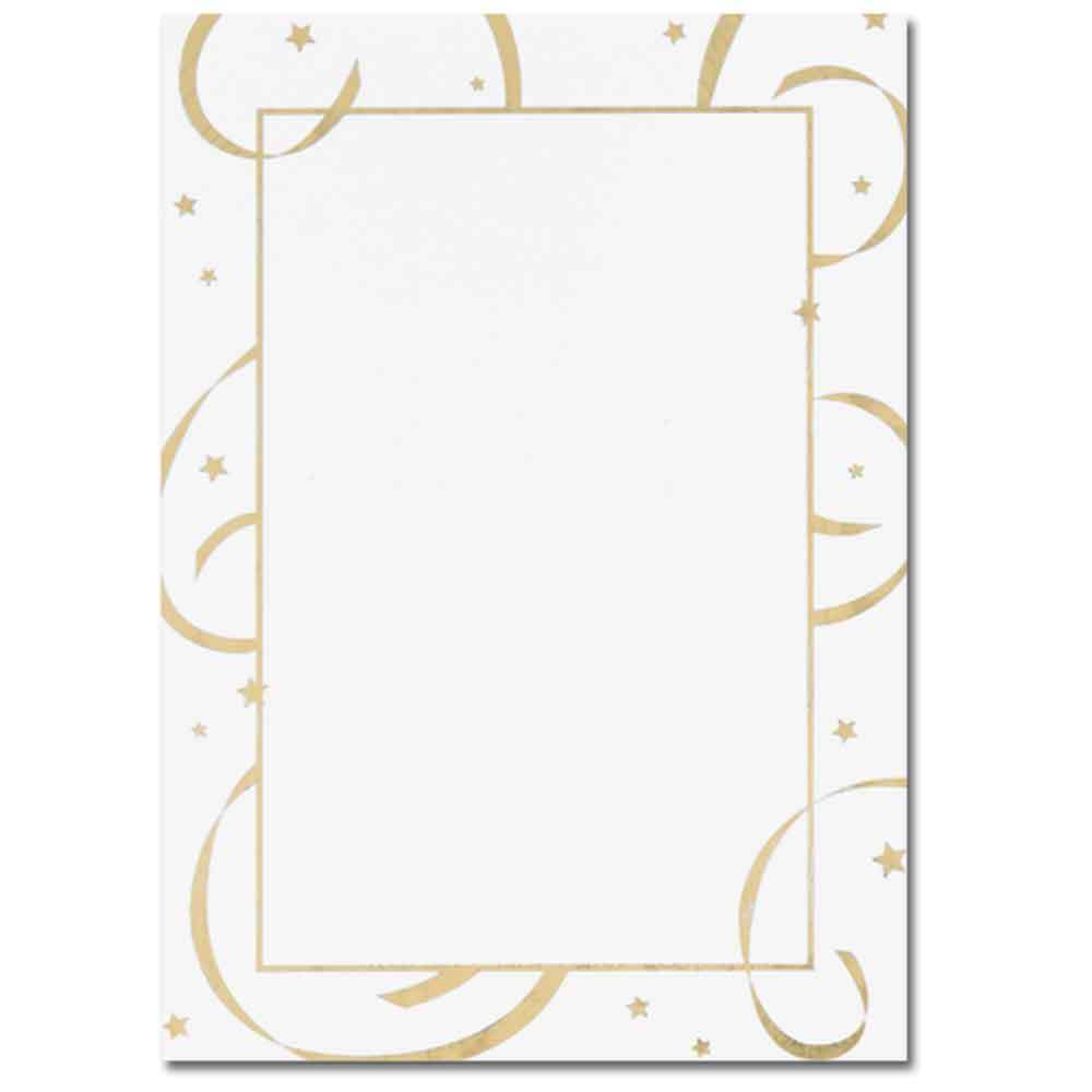 Gold Stars & Streamers Flat Cards