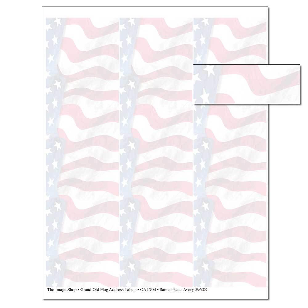 Grand Old Flag Address Labels