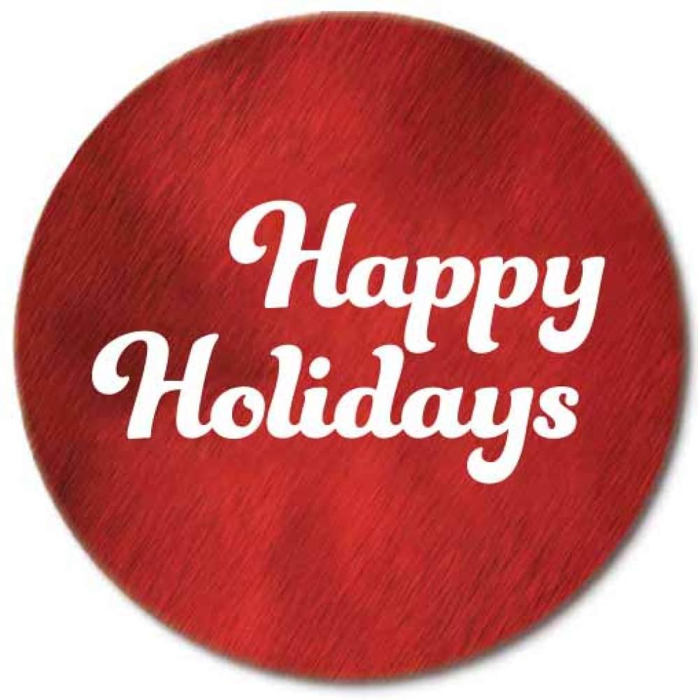 Happy Holidays Foil Seals
