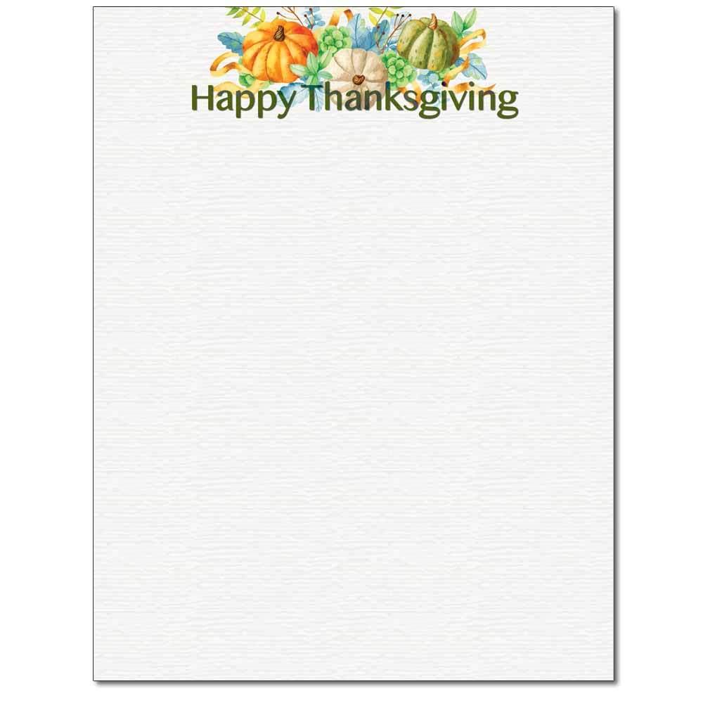 Happy Thanksgiving Letterhead