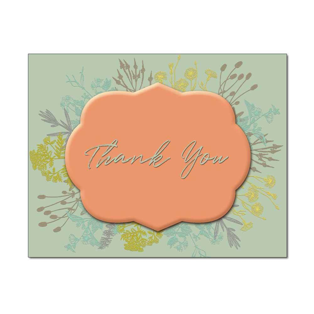 Botanic Wreath Thank You Card
