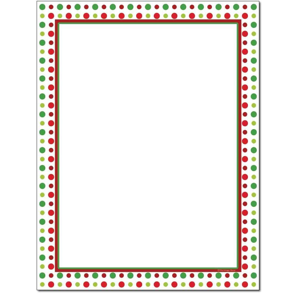 Holiday Dots Letterhead