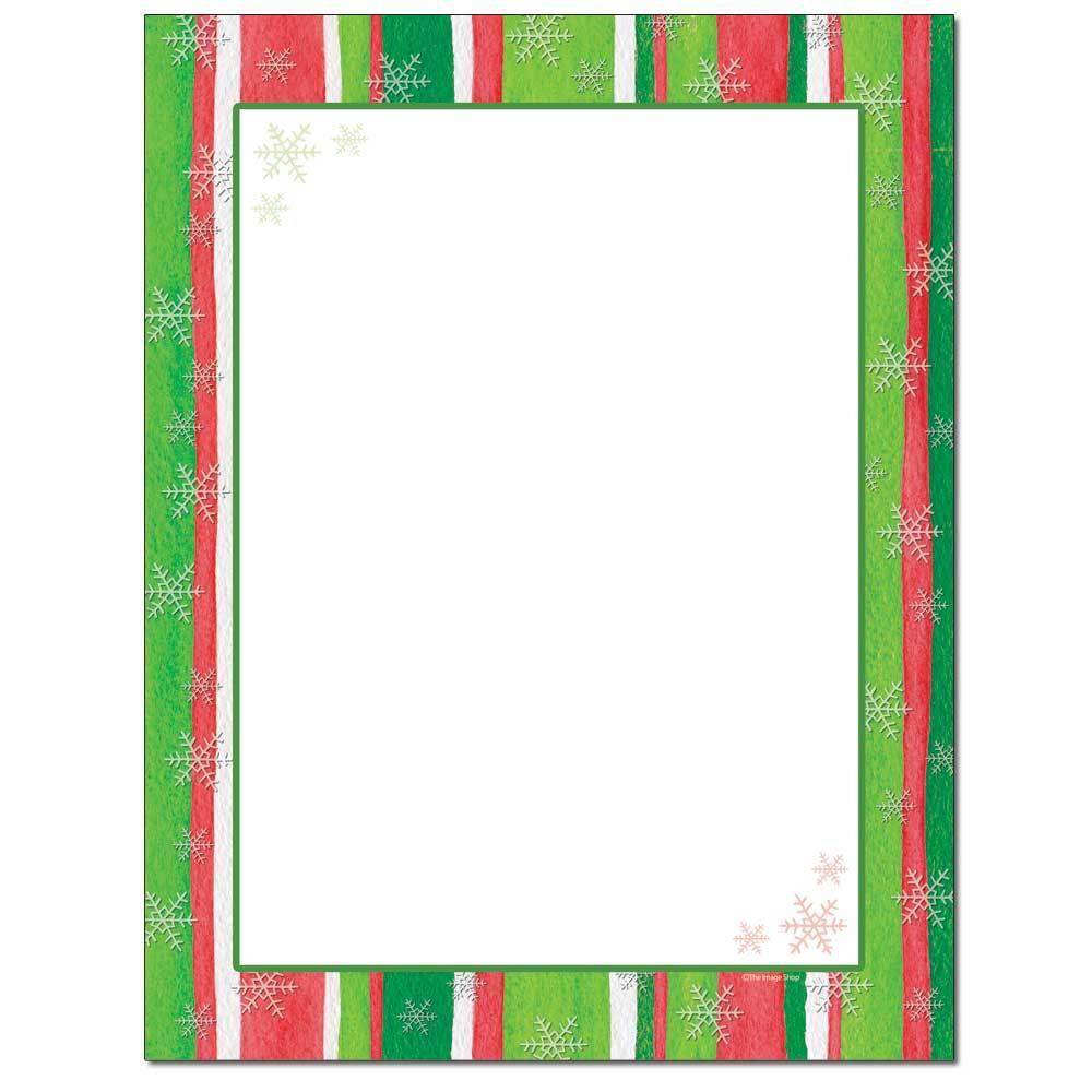 Holiday Stripes Letterhead