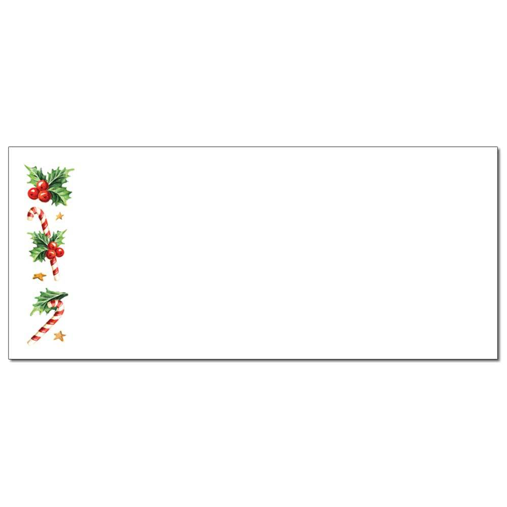 Holly With Candy Canes Envelopes