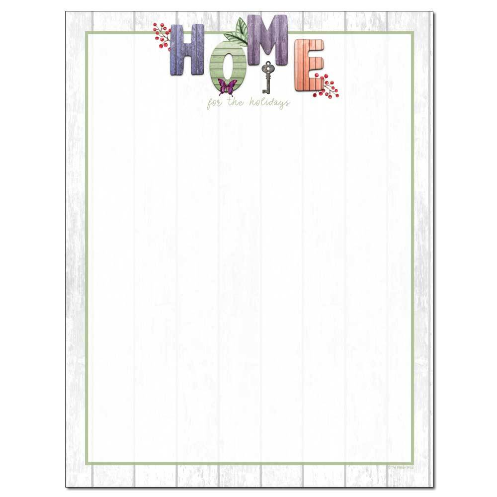 Home For The Holidays Letterhead