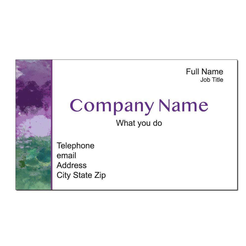 Impressionistic Custom Business Cards