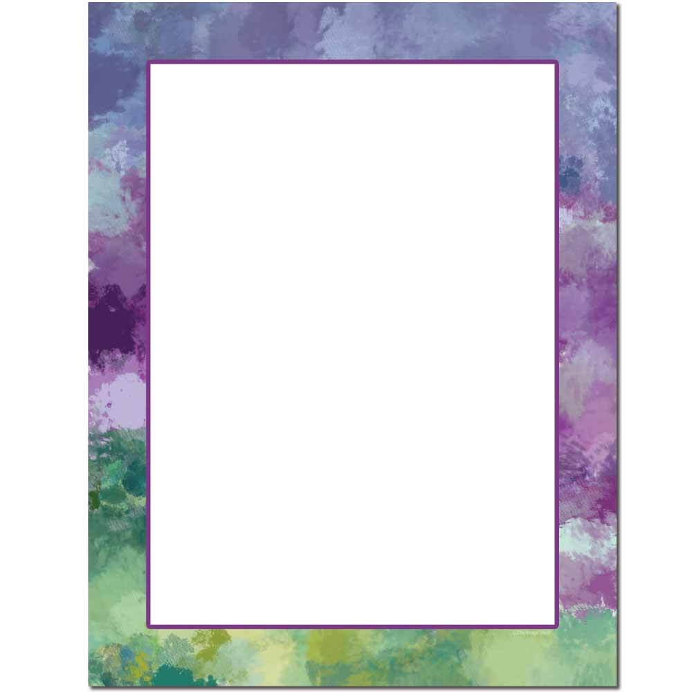Impressionistic Border Letterhead