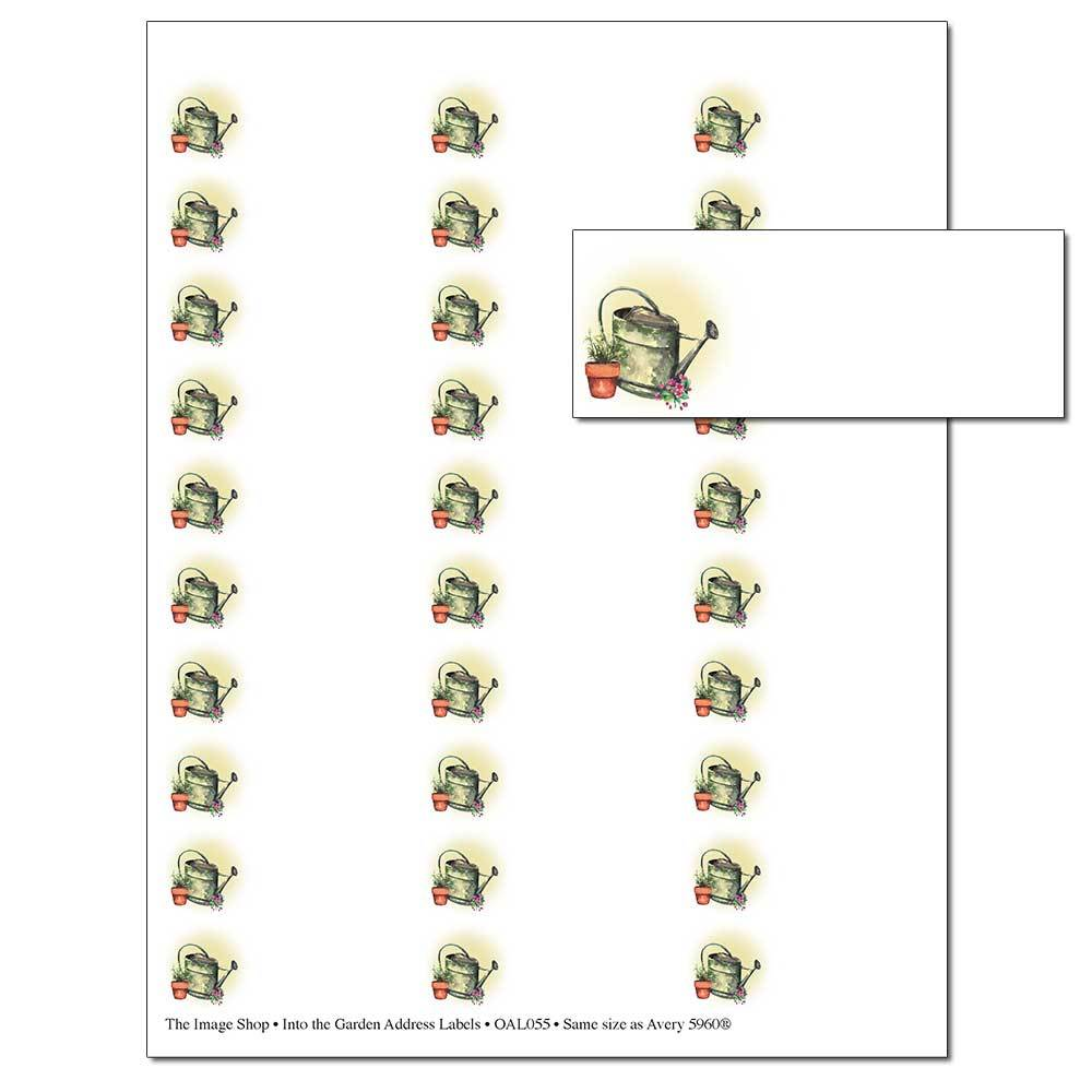 Into the Garden Address Labels