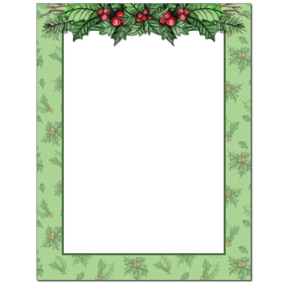 Jolly Holly Letterhead