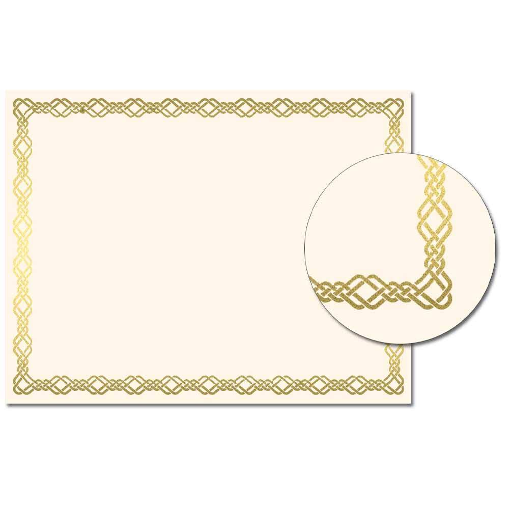 Knotted Border Foil Certificate