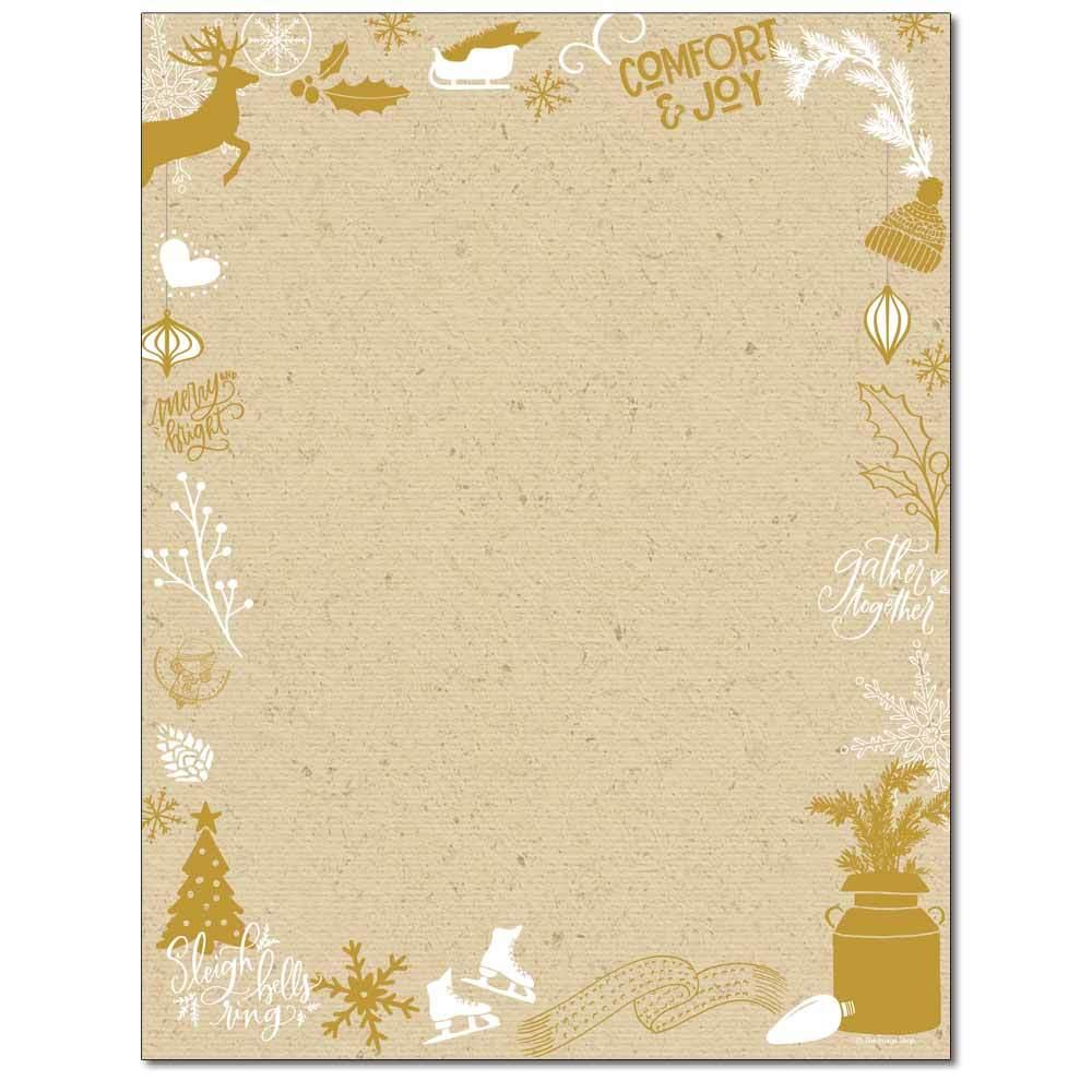 Kraft Christmas Letterhead