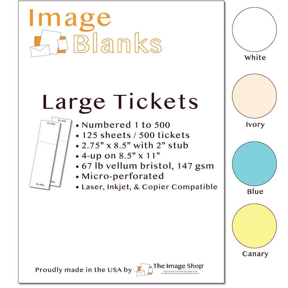 Jumbo Raffle Tickets