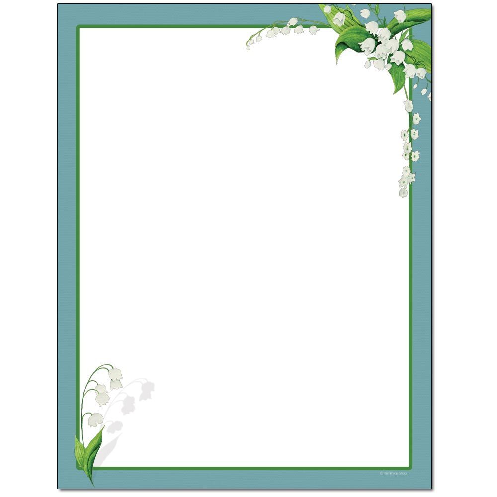Lily of the Valley Letterhead