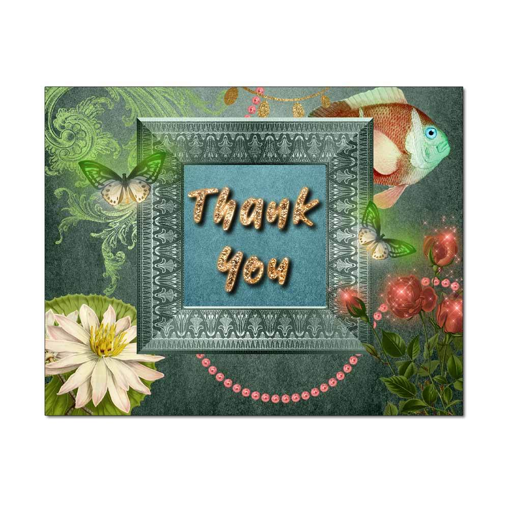 Lily Pond Thank You Card