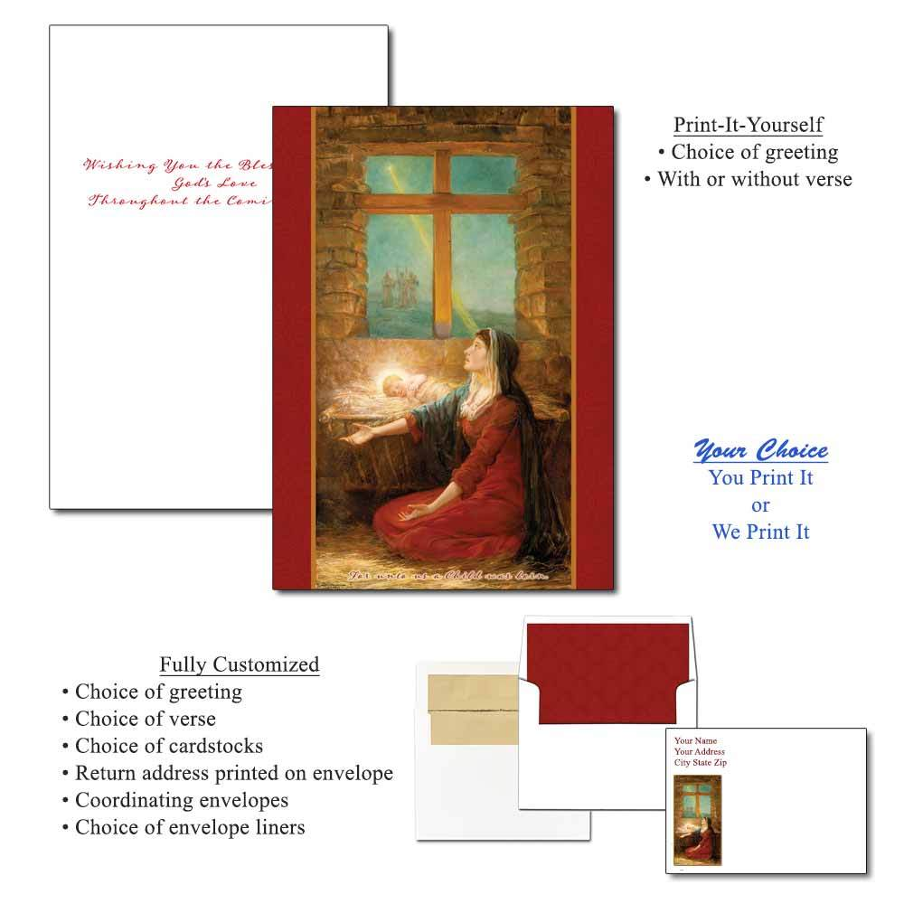 Mary with Baby Jesus Greeting Cards