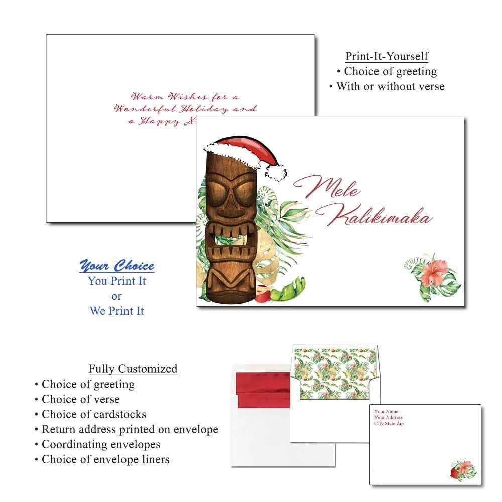 Mele Kalikimaka Greeting Cards