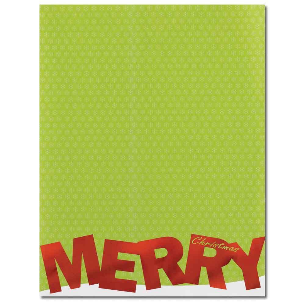 christmas foil letterhead