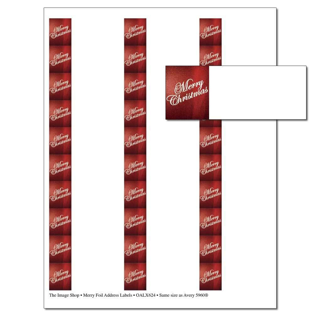 Merry Foil Address Labels