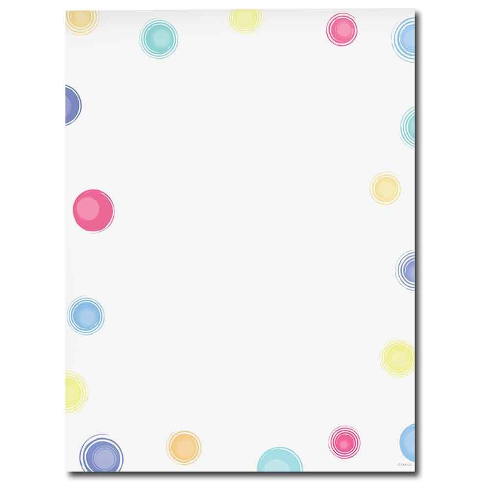 Multi Colored Dots Letterhead
