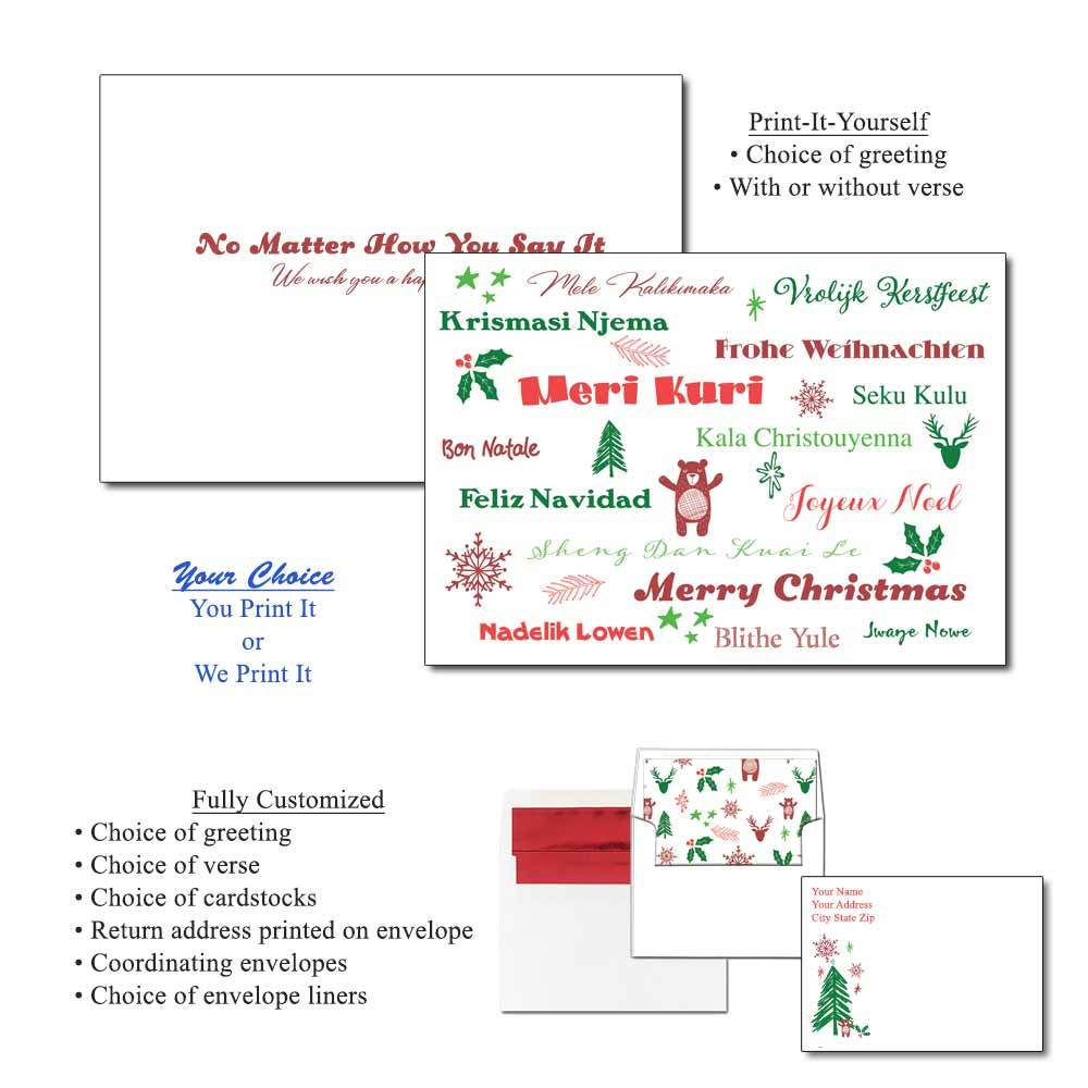 Multicultural Merry Greeting Cards