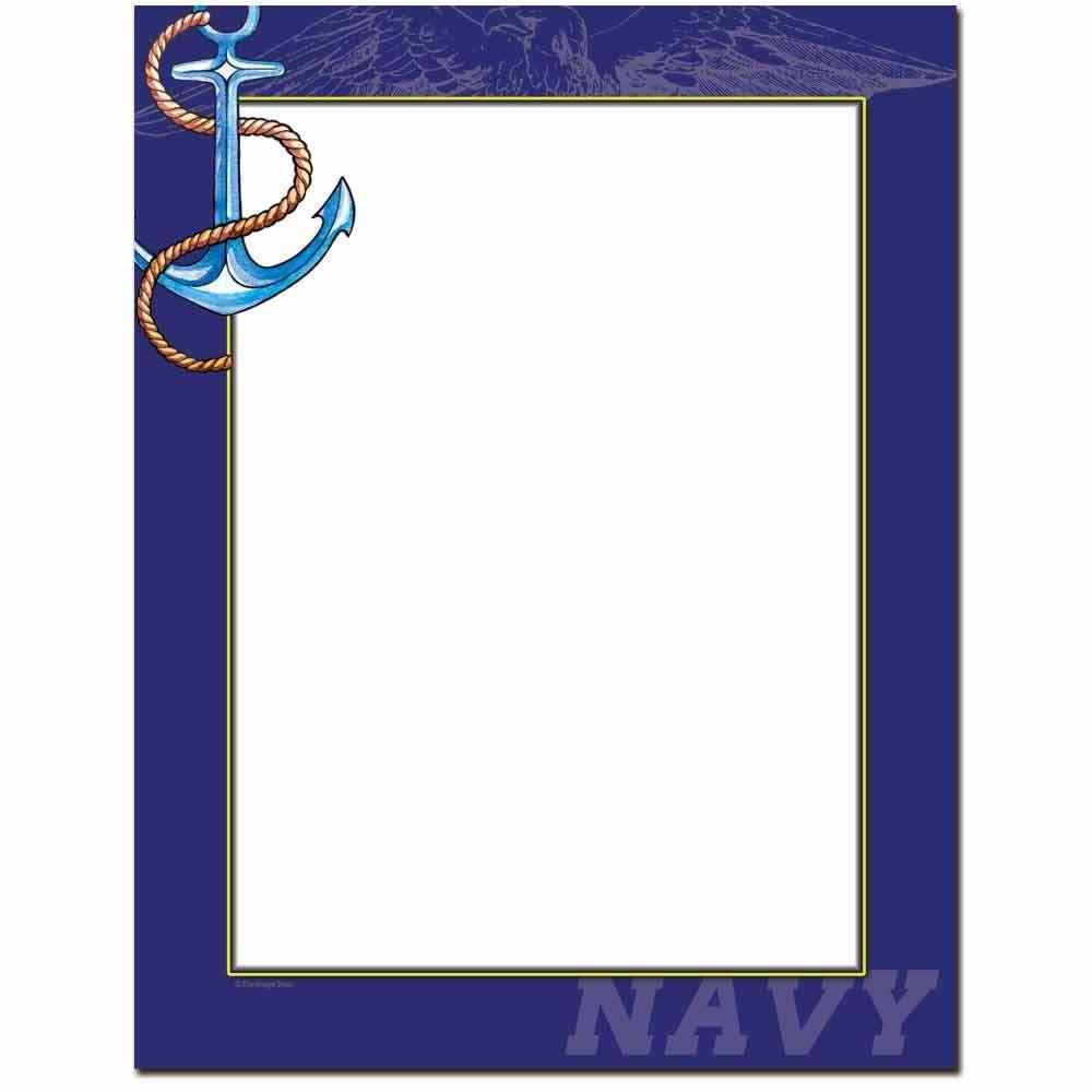 Navy Letterhead