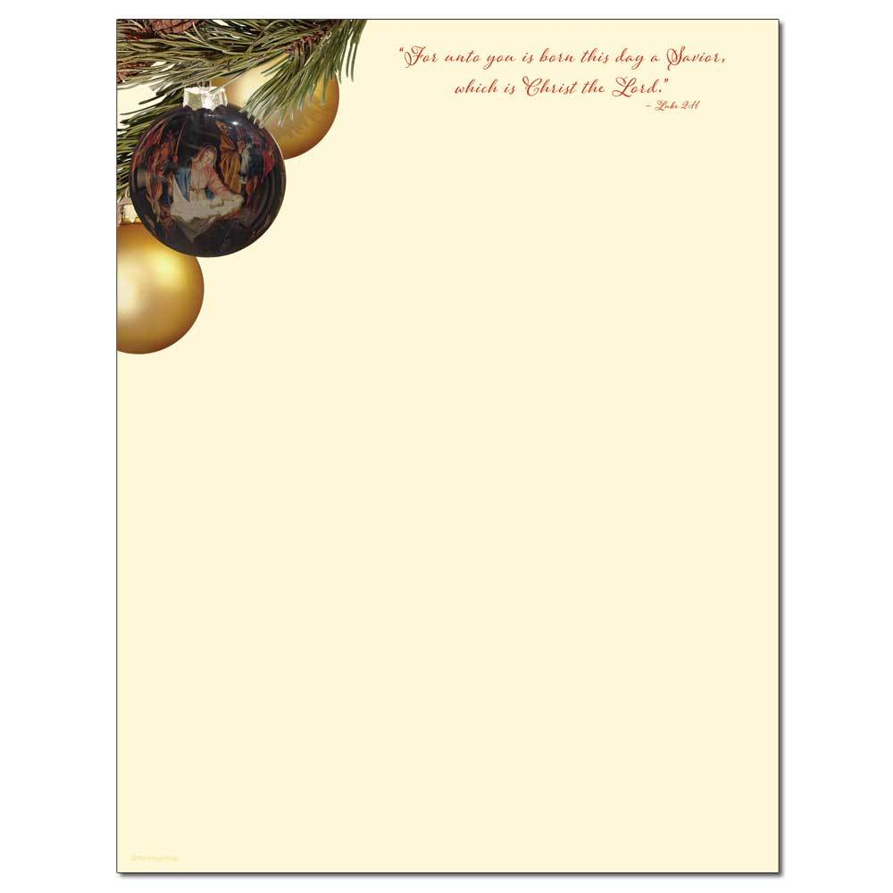 O' Holy Family Letterhead